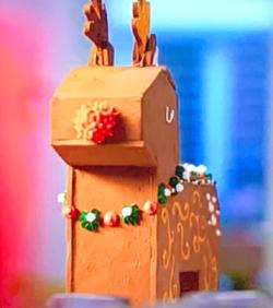 Emily Garland's chocolate gingerbread 3D reindeer on Rachel Khoo: A Chocolate Christmas