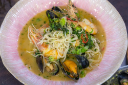 James Martin prawn and mussel laksa curry on James Martin's Saturday Morning