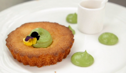 Dalila's polenta cake with a lemon and vanilla syrup on Masterchef The Professionals 2020