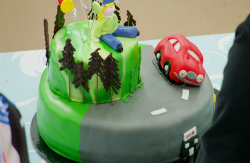 Nancy's 21st birthday showstopper cake on the Great British Bake Off 2021