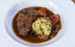 James Martin beef stew with Guinness, onions, carrots and dumplings on James Martin's Satu ...
