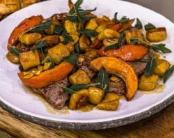 James Martin Lamb Steaks with Pumpkin Gnocchi on James Martin's Saturday Morning