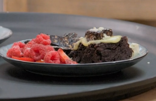 Rachael Johnson chocolate nemesis cake on Celebrity Best Home Cook