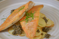 Steven and Sophie's red mullet with potatoes and black olive tapenade  on Rick Stein' ...