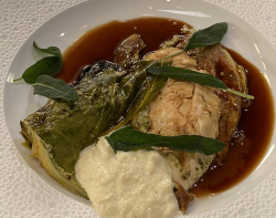 James Martin Roast Chicken with Hispi Cabbage, Port and Bread Sauce on James Martin's Satu ...