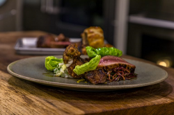 Ryan and Liam Simpson-Trotman Wild Boar with Jerusalem Artichoke, Apple, red cabbage and a musta ...