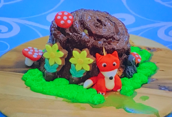 Erin's Enchanted Woodland Cake on Junior Bake Off 2021