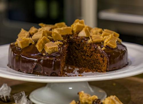 James Martin Chocolate Fudge Cake with a Dark Chocolate Glaze on James Martin's Saturday M ...