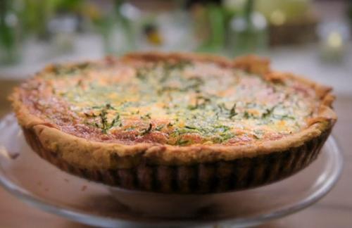 Ed Balls crab and samphire tart on Celebrity Best Home cook final 2021