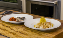 James Martin Rhubarb Chutney with Mackerel and Pan Fried Lemon Sole on James Martin's Satu ...
