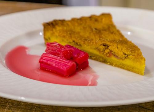 Ravneet Gill Rhubarb and Custard Pie on James Martin's Saturday Morning