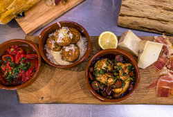 James Martin chicken tapas and potato & chorizo balls with aioli tapas on James Martin' ...