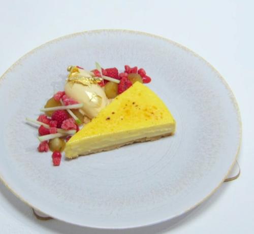 Sabrina's For The Love Of Custard dessert with a egg free custard tart and ice cream on th ...