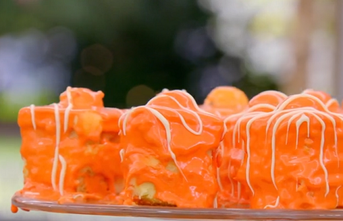 Jade Thirlwall's Martini Fondant Fancies on The Great Celebrity Bake Off for SU2C