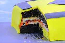 Rob Beckett motorway diversion cake on The Great Celebrity Bake Off for SU2C 2021