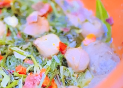 Luciano's sausage and vegetable stew on  A Taste of Italy with Nisha Katona