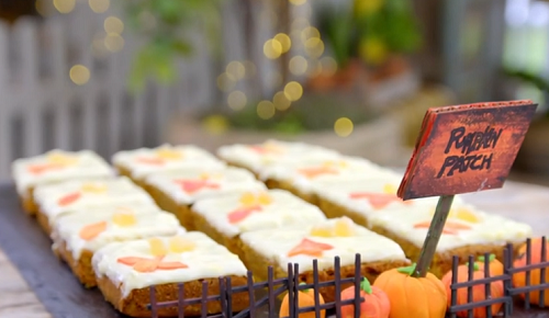 Nick Grimshaw chocolate and beetroot slices on The Great Celebrity Bake Off for SU2C
