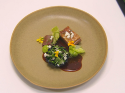 Daa Dolly lamb with peas main course by Stuart Ralston on the Great British Menu 2021