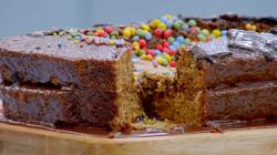 Ade's Chocolate Orange Basketball Stadium Showstopper Cake on The Great Celebrity Bake Off ...