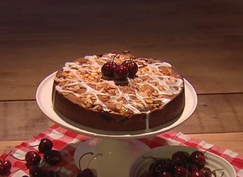 Anton De Durke cherry Bakewell cake on Steph's Packed Lunch